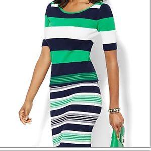 NY&Co Striped Sweater Set
